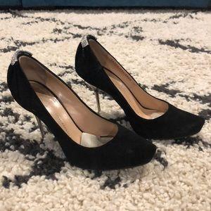 Giuseppe Zanotti Suede Black Heel Size 7.5